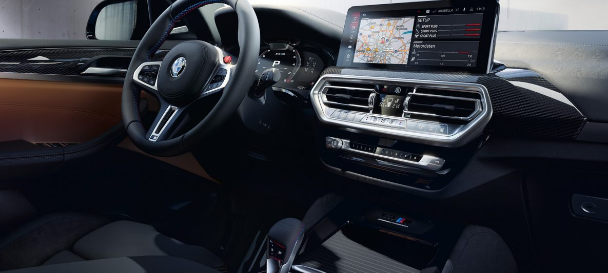 BMW X3 M Competition F97 LCI Facelift 2021 Cockpit Innenraum