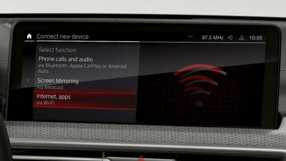 BMW X4 M Automobile F98 G02 LCI 2021 Facelift WLAN Hotspot Control Display